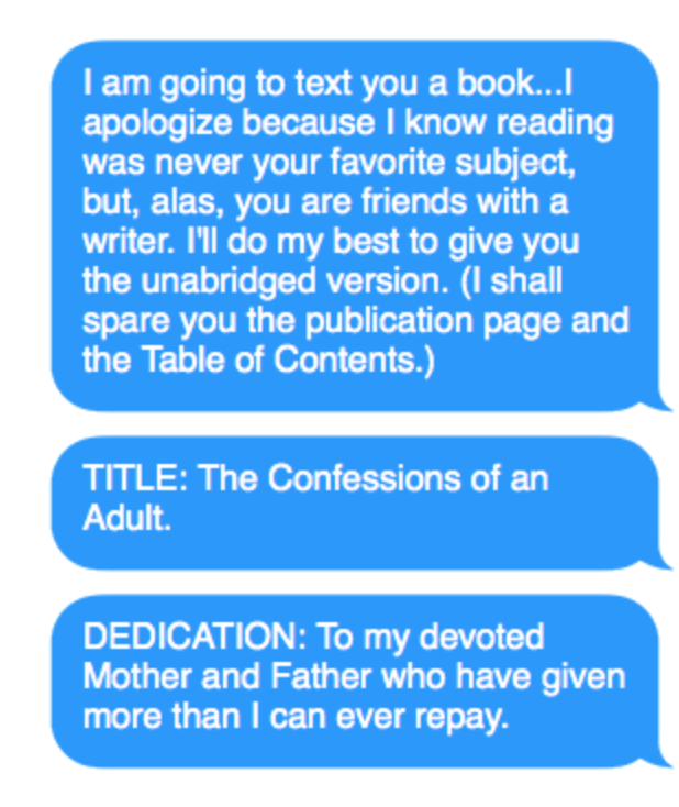 The beginning of a longggg e-book.